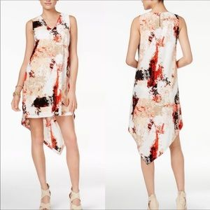 Bar III high low abstract print dress